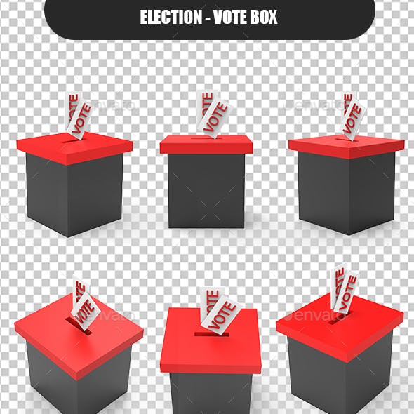 Vote Box 3D for Presidential Election