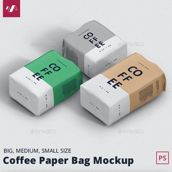 Coffee Paper Bag Mockup Bundle