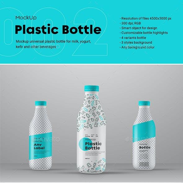 4 Mock-Ups of a Big Plastic Bottle_Series