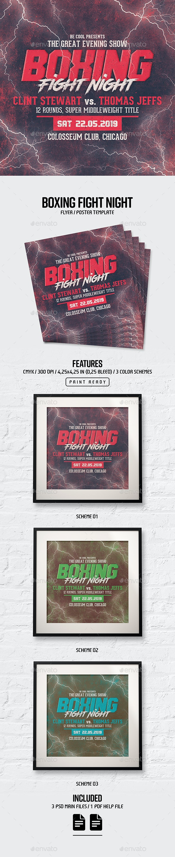 Boxing Flyer/Poster - Sports Events