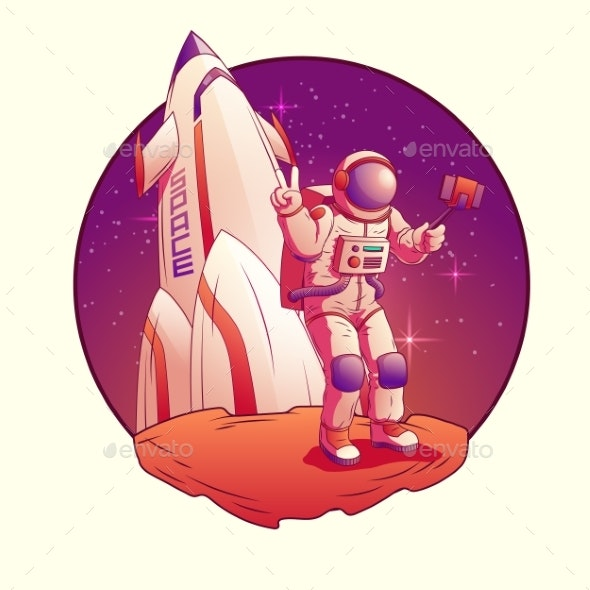 Astronaut or Spacemen Character Wearing Space Suit - Technology Conceptual