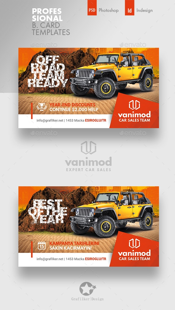 Car Sales Business Card Templates - Corporate Business Cards