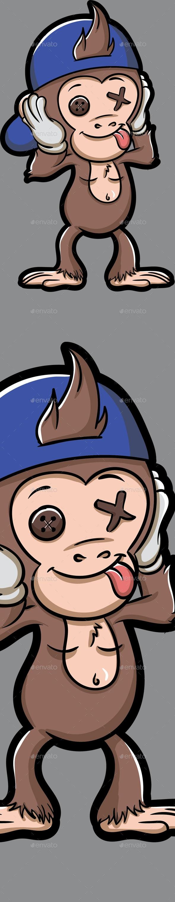 Vector Monkey Boy - Animals Characters