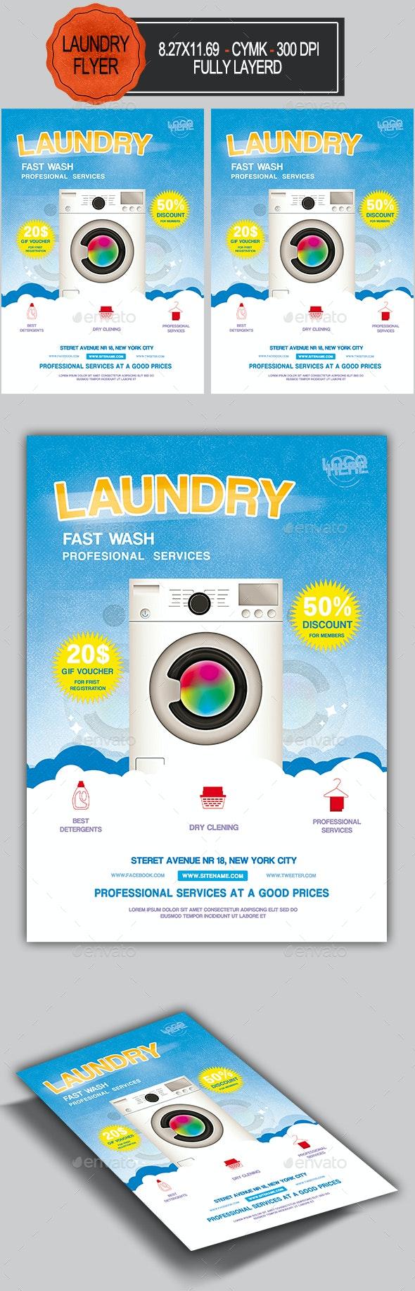 Laundry Flyer - Commerce Flyers