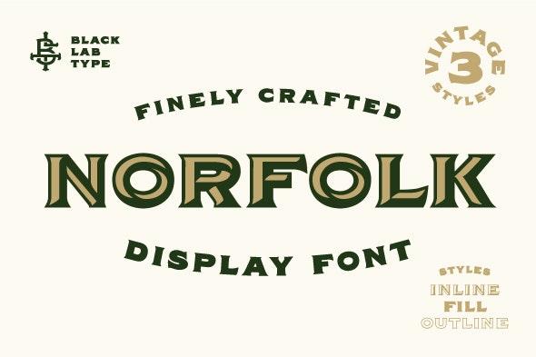 Norfolk - Vintage Font - Serif Fonts