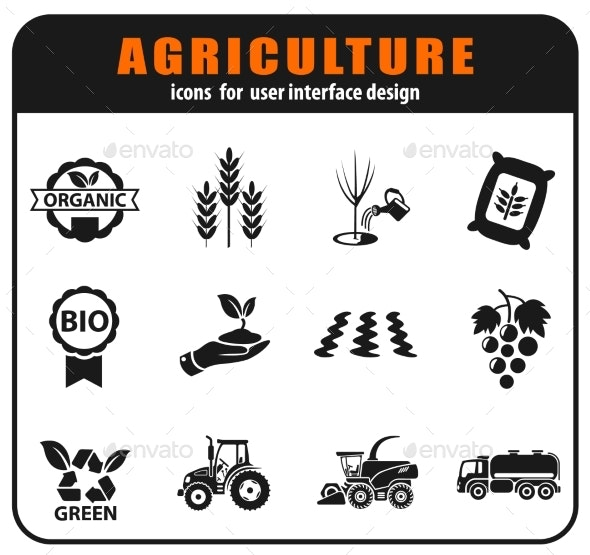 Agricultural Icon Set - Industries Business