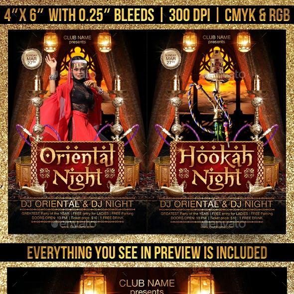 Oriental and Hookah Night Flyer