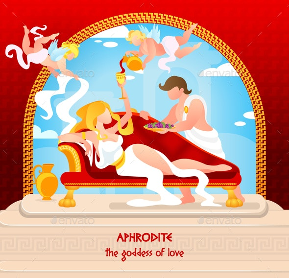Mythology is Written Aphrodite the Goddess of Love - Religion Conceptual