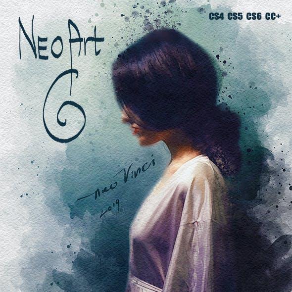 NEOart 6 Wet Watercolor PS Action