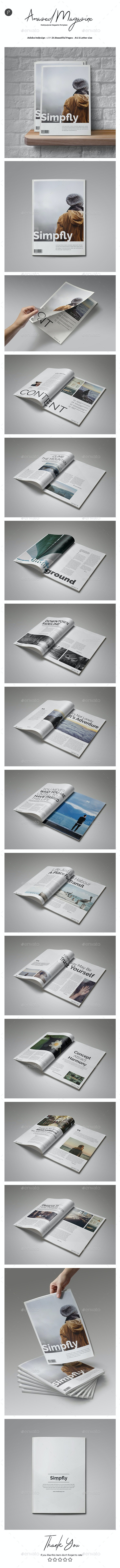Clean & Simple Magazine Vol.2 - Magazines Print Templates