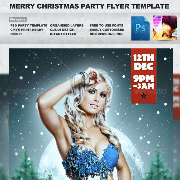 Merry Christmas - Winter A5 PSD Flyer Template