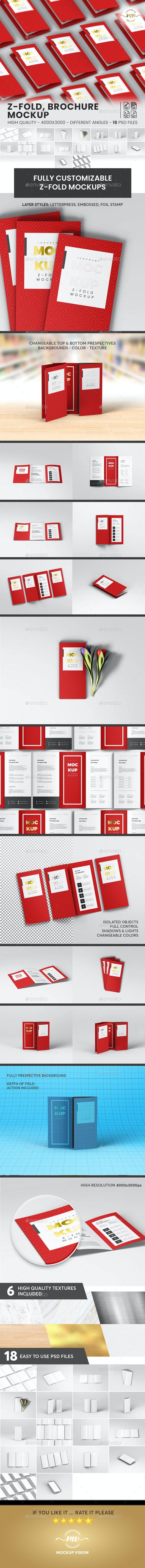 A4 Z-Fold, Brochure Mockup V1 - Brochures Print