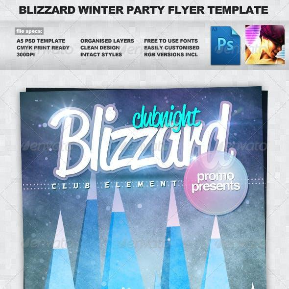 Blizzard - Winter A5 PSD Flyer Template