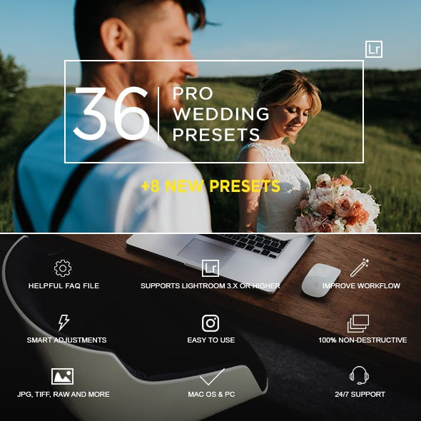 36 Pro Wedding Presets New Update