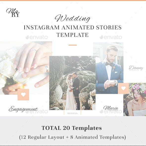 Mary - Wedding Instagram Animated Stories