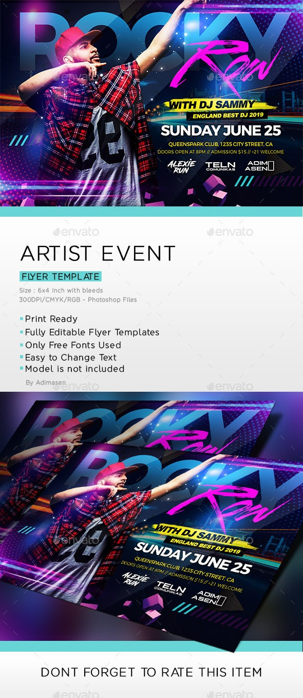 Artist Event - Clubs & Parties Events