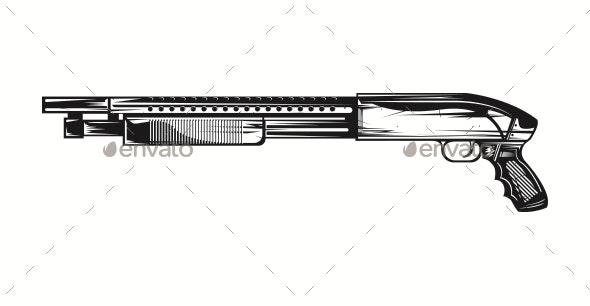 Shotgun Vector - Man-made Objects Objects