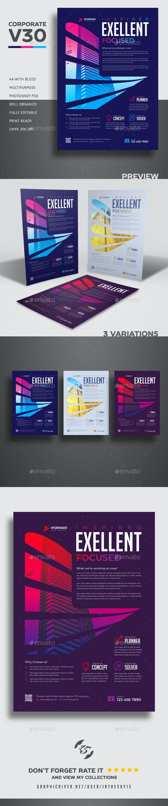 Corporate V30 Flyer - Corporate Flyers