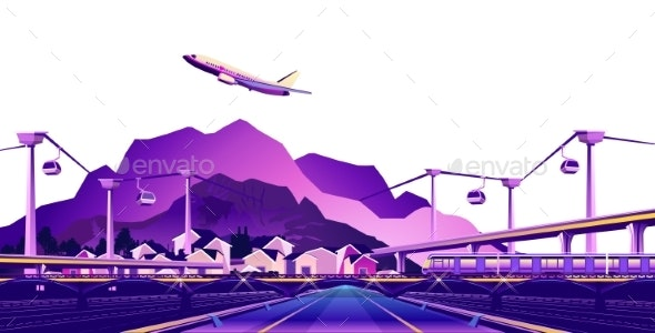Small Resort Town - Travel Conceptual