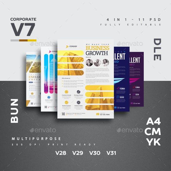 Corporate V7 Flyer Bundle