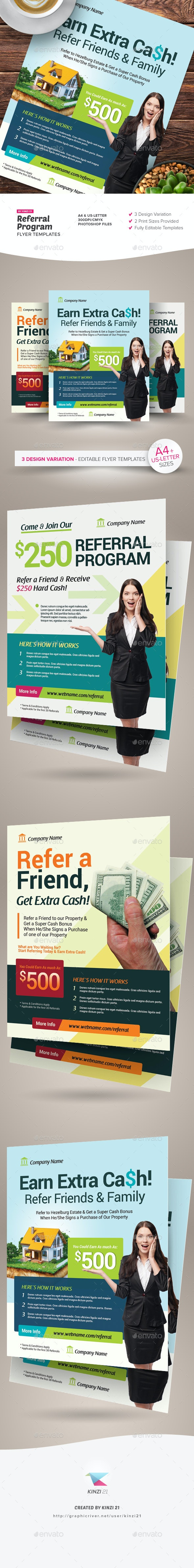 Referral Program Flyer Templates - Corporate Flyers