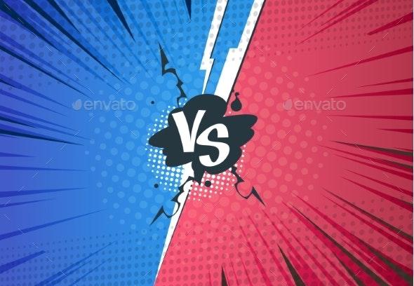 Versus Comics Background - Miscellaneous Vectors