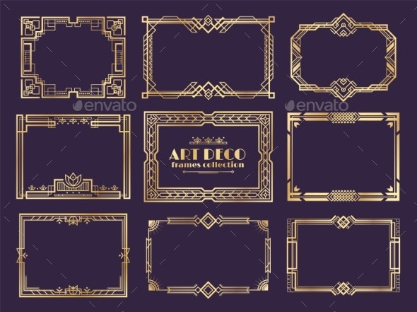 Art Deco Borders By Spicytruffel Graphicriver Ai (adobe illustrator) eps (encapsulated postscript). https graphicriver net item art deco borders 23688858