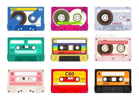 Vintage Music Cassettes - Retro Technology