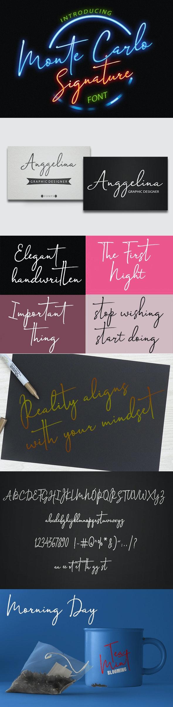 Monte Carlo Signature - Script Fonts