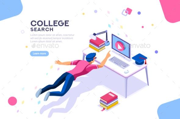 College Search University Banner - Miscellaneous Vectors