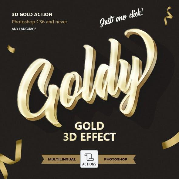 Gold 3D - Photoshop Action