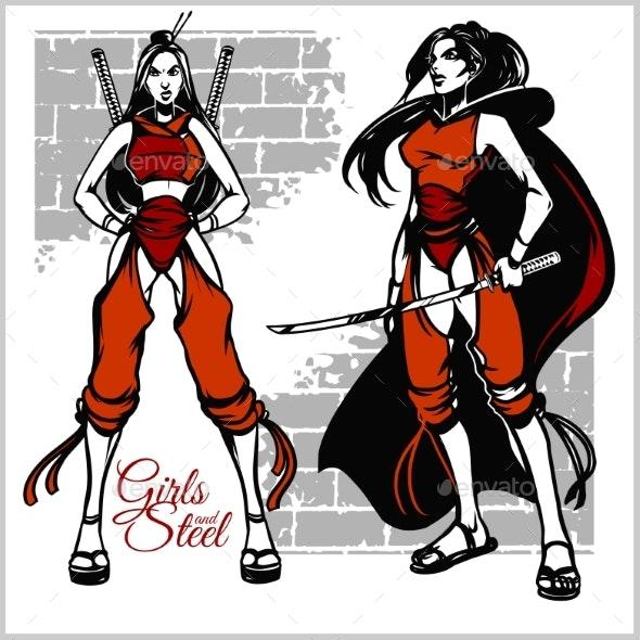 Girl with Katana - People Characters