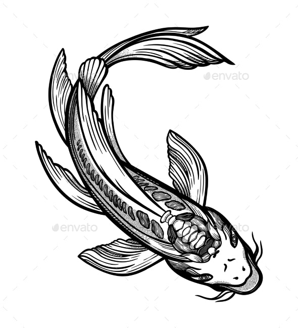 Hand Drawn Ethnic Fish - Animals Characters