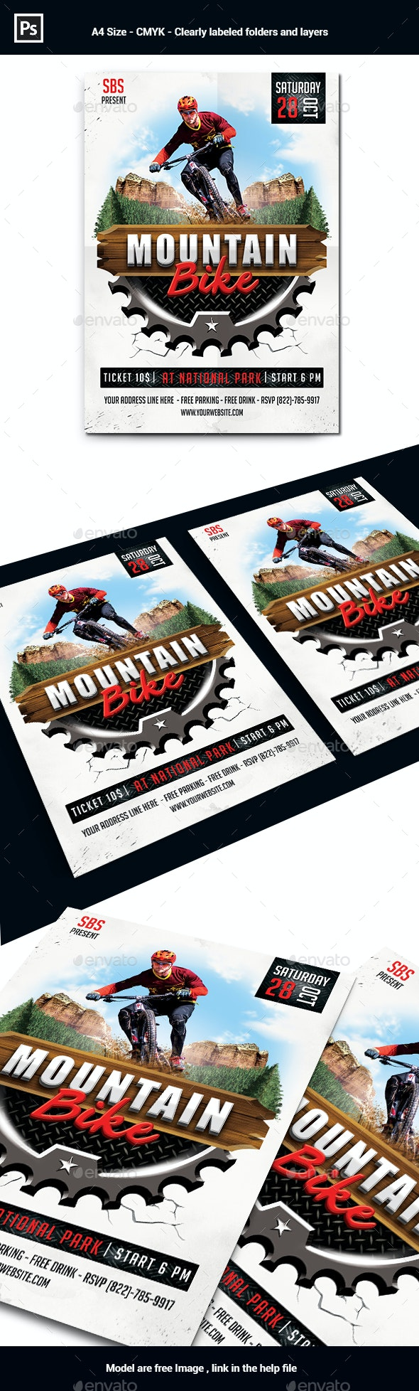 Mountain Bike Flyer Template - Sports Events