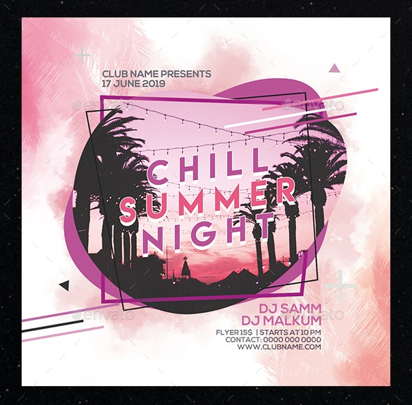 Chill Summer Night Party Flyer - Clubs & Parties Events