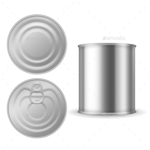Metal Tin Can - Man-made Objects Objects