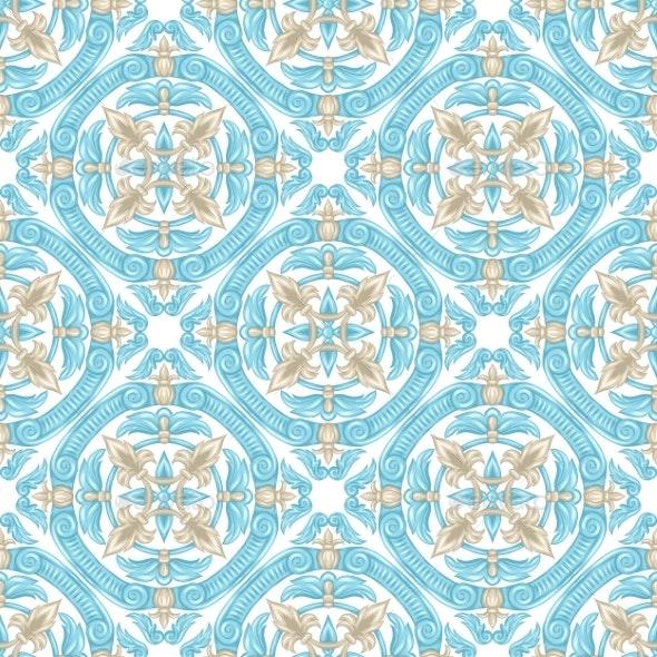Portuguese Azulejo Ceramic Tile Pattern - Patterns Decorative