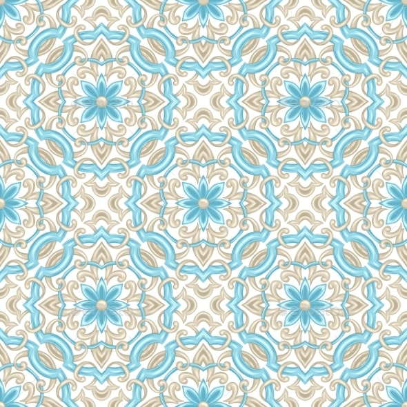 Portuguese Azulejo Ceramic Tile Pattern - Patterns Decorative
