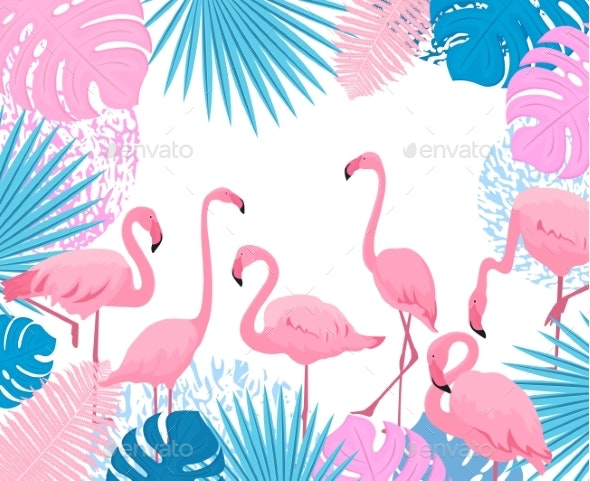 Pink Flamingo - Animals Characters