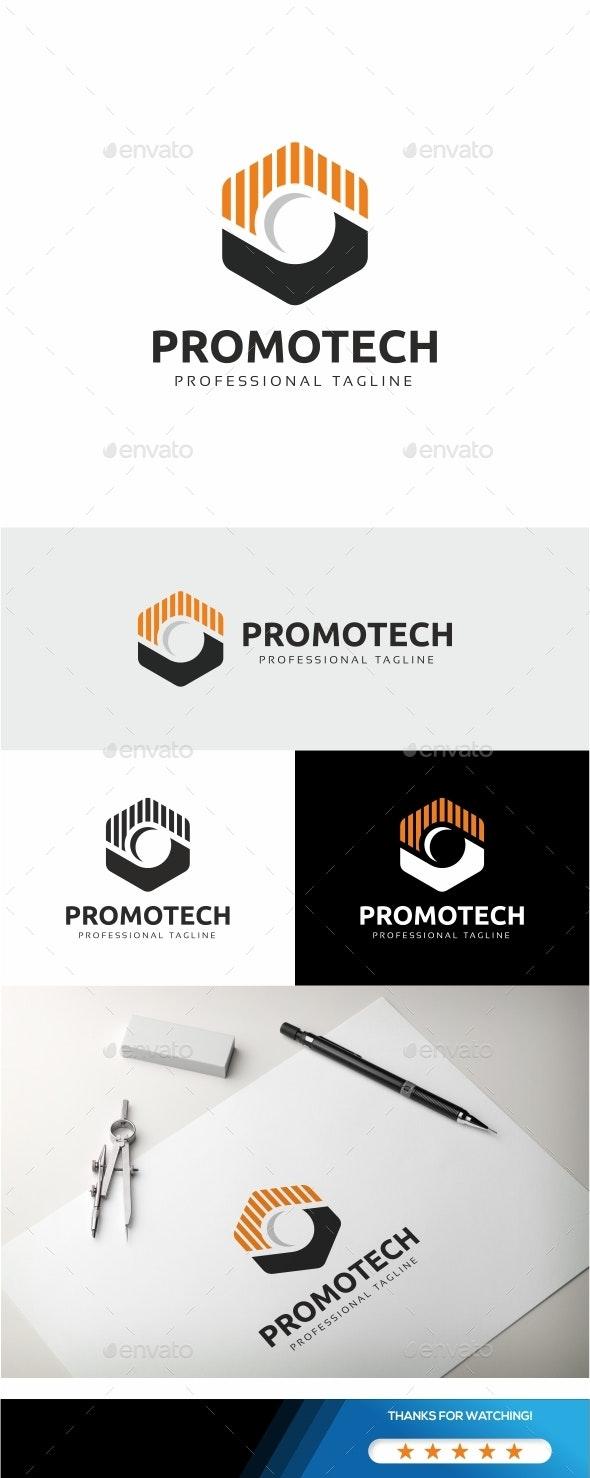 Promotech - Hexagon Logo - Logo Templates