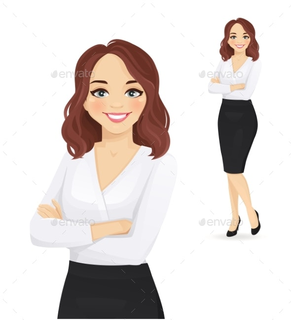 Elegant Business Woman Portrait - People Characters