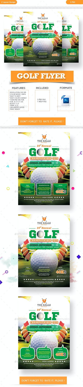 Golf Event/ Tournament Flyer - Flyers Print Templates