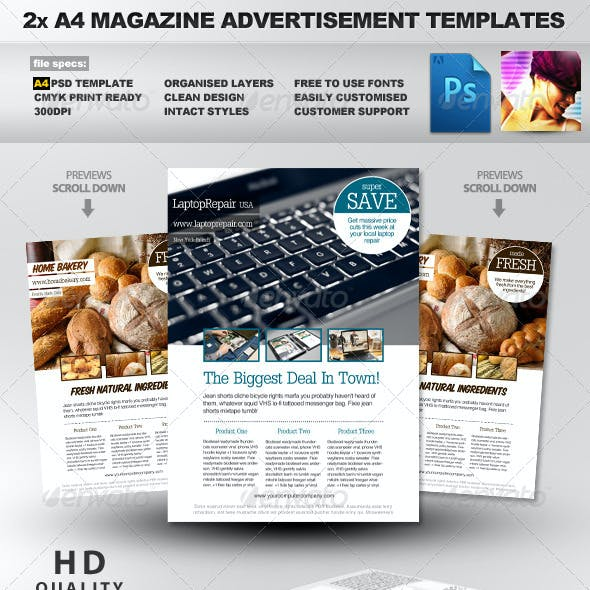 2 Feature Image A4 Magazine Ad Layout
