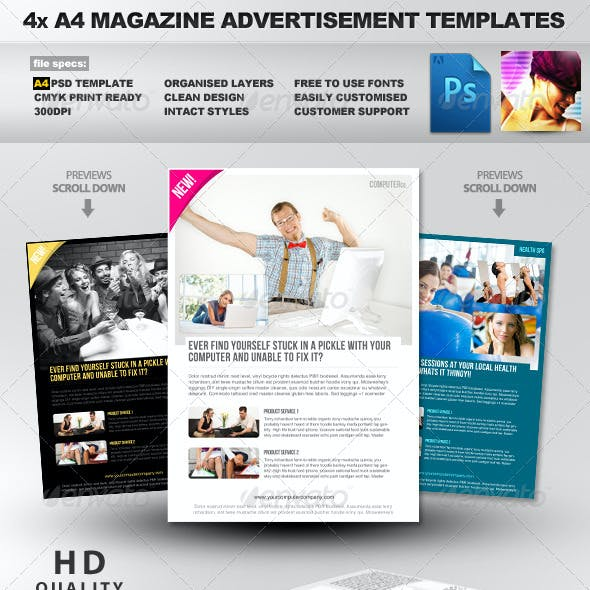 Product/Service A4 PSD Magazine Advertisement