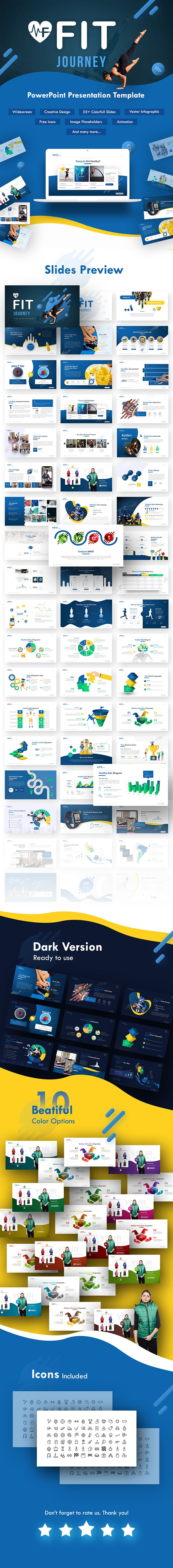Fit Journey - Sporty PowerPoint Template - PowerPoint Templates Presentation Templates