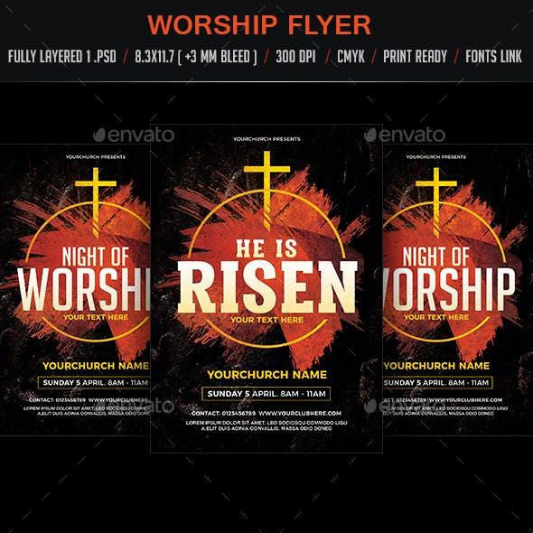 Worship Flyer Poster