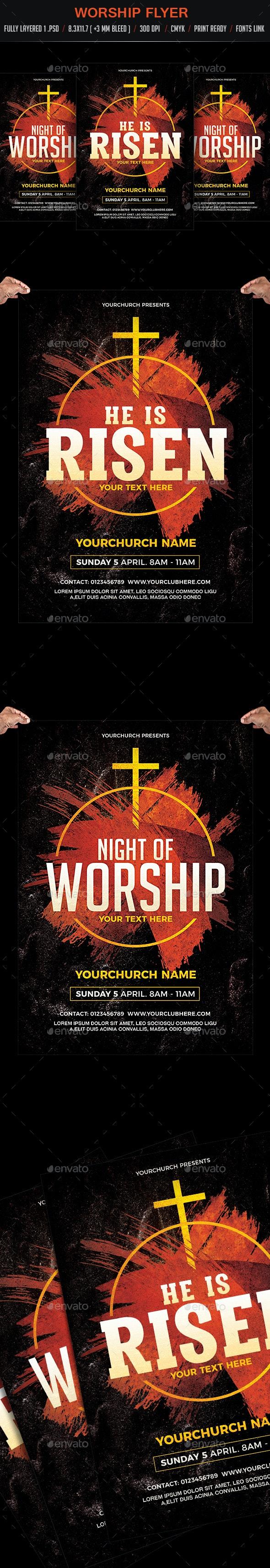 Worship Flyer Poster - Church Flyers