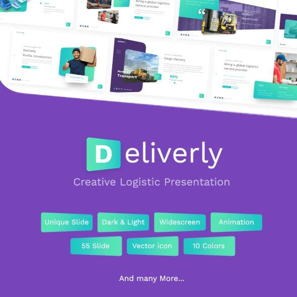 Deliverly - Logistic PowerPoint Template