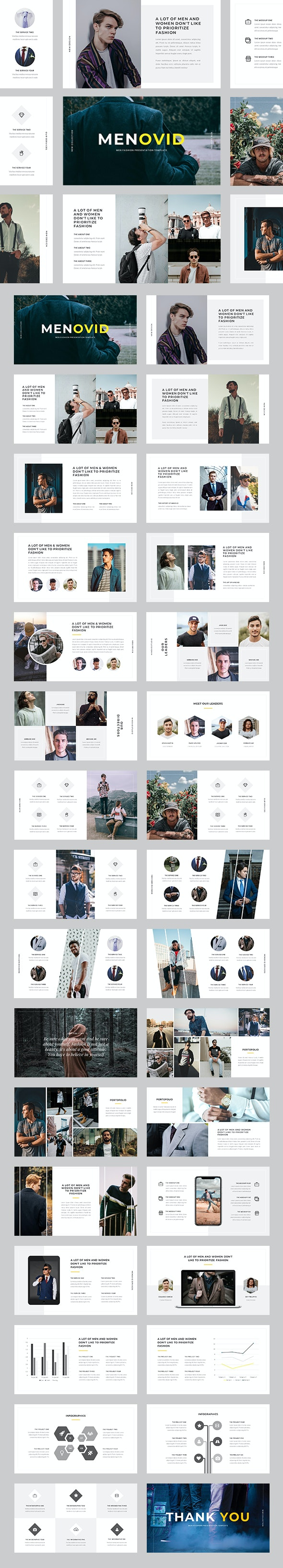 Menovid - Men Fashion PowerPoint Template - Business PowerPoint Templates