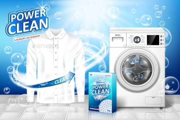 Laundry Detergent Ad - Man-made Objects Objects